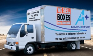 A+ Movers & Removers Box Truck Overnight Truck Storage