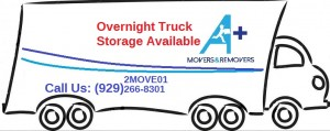 Overnight Truck Storage Available A+ Movers and Removers